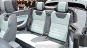 Range Rover Evoque Convertible rear seating at the 2016 Geneva Motor Show