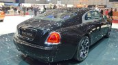 Rolls Royce Wraith Black Badge Edition rear quarter at 2016 Geneva Motor Show