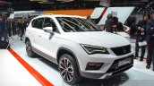 Seat Ateca front three quarter at the Geneva Motor Show Live