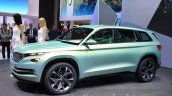 Skoda VisionS SUV concept front three quarter at the 2016 Geneva Motor Show