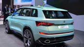 Skoda VisionS SUV concept rear three quarter at the 2016 Geneva Motor Show