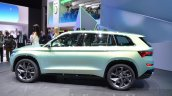 Skoda VisionS SUV concept side at the 2016 Geneva Motor Show