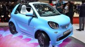 Smart fortwo Cabrio Brabus edition front three quarter at the Geneva Motor Show Live