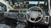 Tata Hexa Tuff steering wheel center console and features at the 2016 Geneva Motor Show