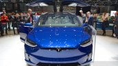Tesla Model X front at the Geneva Motor Show 2016
