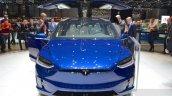 Tesla Model X front at the Geneva Motor Show 2016