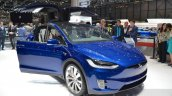 Tesla Model X front three quarter at the Geneva Motor Show 2016
