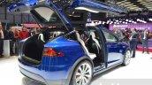 Tesla Model X rear three quarter at the Geneva Motor Show 2016