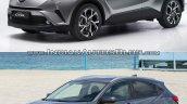 Toyota C-HR front vs Honda HR-V front comparo