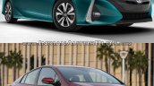 Toyota Prius Prime front vs. 2016 Toyota Prius front
