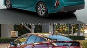 Toyota Prius Prime rear quarter vs. 2016 Toyota Prius rear quarter