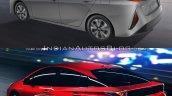 Toyota Prius Prime rear quarters vs. 2016 Toyota Prius rear quarters