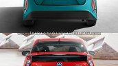 Toyota Prius Prime rear vs. 2016 Toyota Prius rear