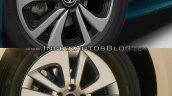 Toyota Prius Prime wheel vs. 2016 Toyota Prius wheel