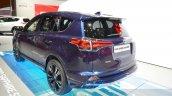 Toyota RAV4 Hybrid Sapphire rear three quarters