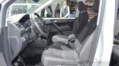 VW Caddy Alltrack front seats at the 2016 Geneva Motor Show