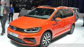 VW Touran R-Line front three quarter at the 2016 Geneva Motor Show Live