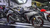 Yamaha R3 Matte Grey right side at 2016 BIMS