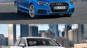 2016 Audi A3 Sedan vs. 2013 Audi A3 Sedan exterior