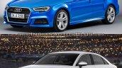 2016 Audi A3 Sedan vs. 2013 Audi A3 Sedan front three quarters