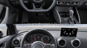2016 Audi A3 Sedan vs. 2013 Audi A3 Sedan interior dashboard