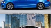 2016 Audi A3 Sedan vs. 2013 Audi A3 Sedan side profile