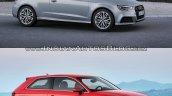 2016 Audi A3 vs. 2012 Audi A3 exterior