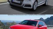 2016 Audi A3 vs. 2012 Audi A3 front three quarters left side