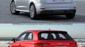 2016 Audi A3 vs. 2012 Audi A3 rear three quarters