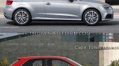 2016 Audi A3 vs. 2012 Audi A3 side profile