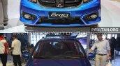 2016 Honda Brio (facelift) vs outgoing Honda Brio front Old vs New