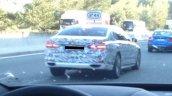 2017 BMW 5 Series rear three quarters spy shot
