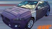 2017 Hyundai i30 spy shot front three quarters
