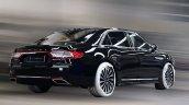 2017 Lincoln Continental rear quarter Black spied
