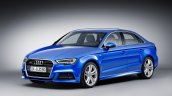 Audi A3 Sedan facelift front quarter press shots