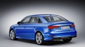 Audi A3 Sedan facelift rear quarter press shots