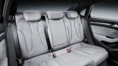Audi A3 Sedan facelift rear seat press shots