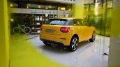 Audi Q2 rear three quarters at Audi City Lab Milan