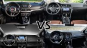 Fiat Tipo vs. VW Golf vs. Ford Focus vs. Renault Megane interior