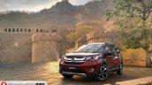 Honda BR-V front three quarter India spec pre-launch pics