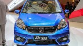 Honda Brio facelift blue front unveiled at IIMS 2016