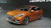 Hyundai Verna Concept front quarter at the Auto China 2016 Live