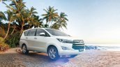 India-bound 2016 Toyota Innova front three quarter launches in Bahrain