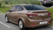 Next-gen 2017 Hyundai Verna rear Rendering
