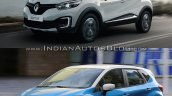 Renault Kaptur vs. Renault Captur front three quarters