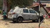 Tata Hexa side spied testing on NH4 highway
