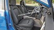 Tata Nexon front seat detailed images