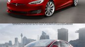Tesla Model S old vs. new comparision