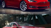 Tesla Model S old vs. new front three quarters