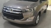 Toyota Innova Crysta 2.4 V front quarter spied at dealership